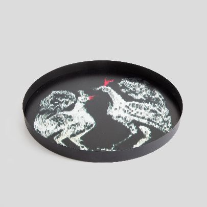 Picture of mirror tray with bird pattern