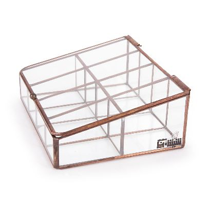Picture of inclined glass box