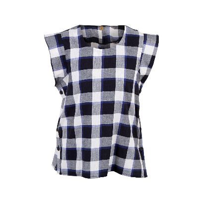 Picture of checkered short sleeve shirt