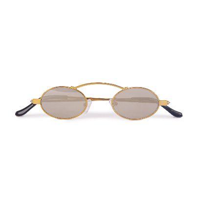 Picture of gold doris round glasses