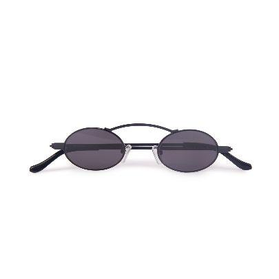 Picture of fade black doris round glasses