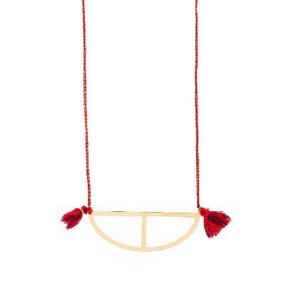 Picture of minimal borque necklace