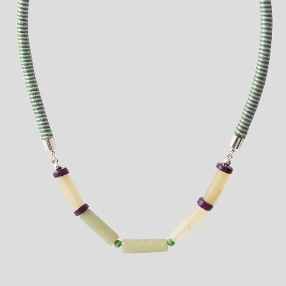 Picture of green zamin necklace