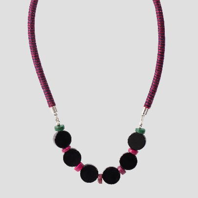Picture of pink zamin necklace