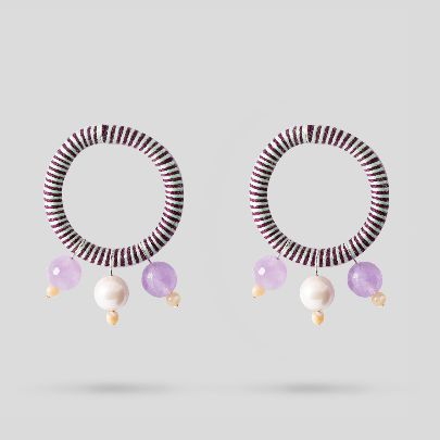 Picture of purple bahar earrings