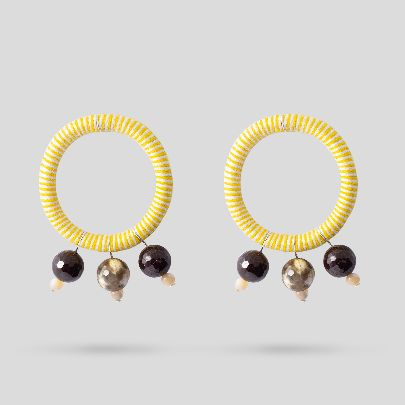 Picture of yellow bahar earrings
