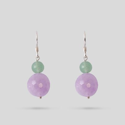 Picture of green and purple earrings