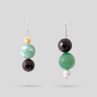 Picture of green and black earrings