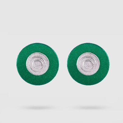 تصویر گوشواره داچک سبز نقره ای