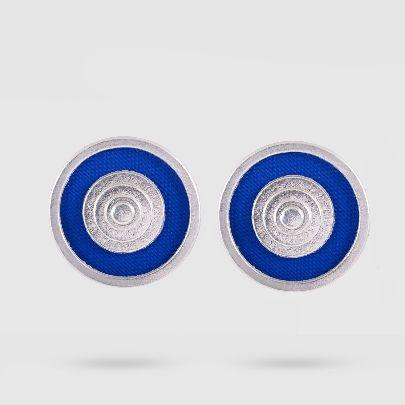 تصویر گوشواره داچک نقره ای آبی