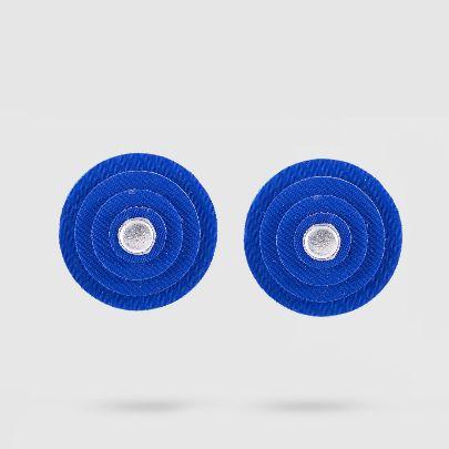 تصویر گوشواره داچک کوچک آبی نقره ای