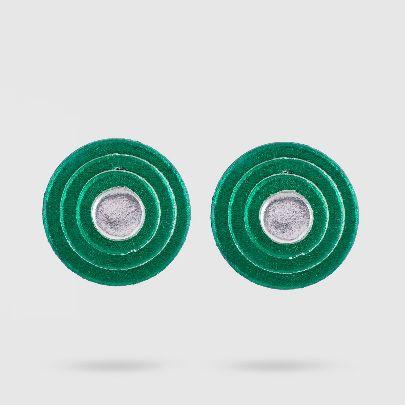 تصویر گوشواره داچک کوچک سبز