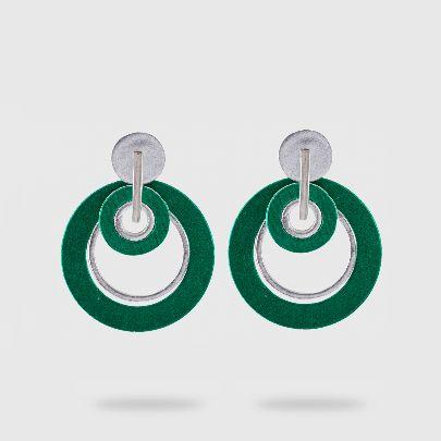 تصویر گوشواره دلنگو دایره سبز
