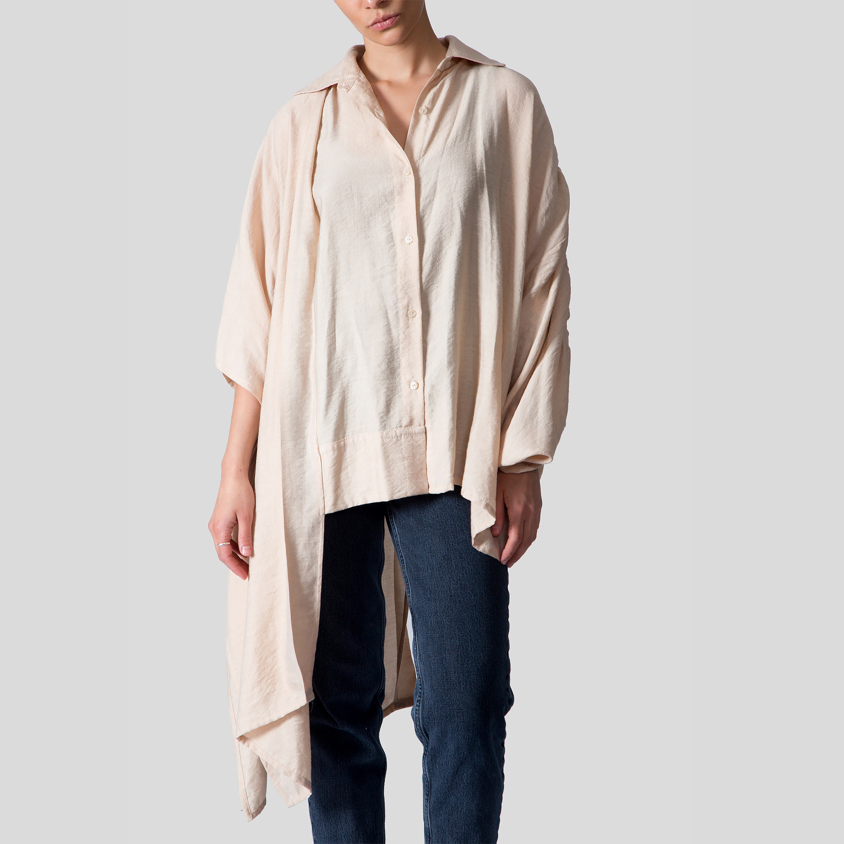 Picture of beige square blouse