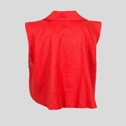 Picture of red linen vest