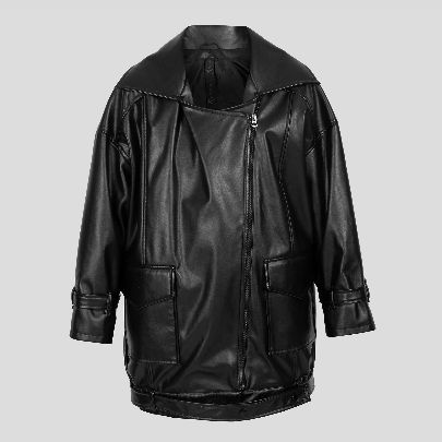 Picture of black leather coat
