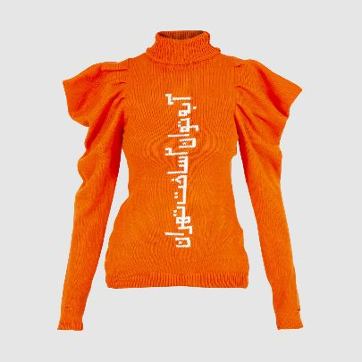 Picture of orange pullover