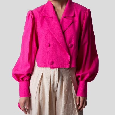 Picture of pink linen coat