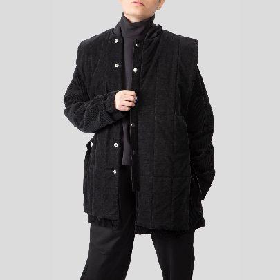 Picture of black velvet coat