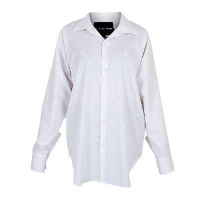 Picture of shirt with white pixels