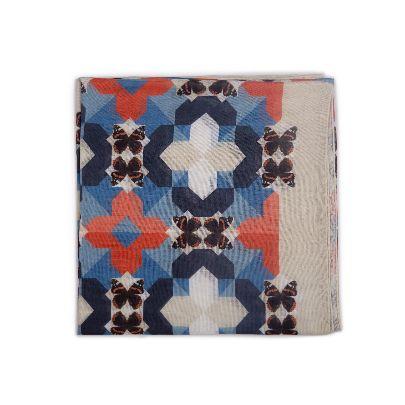 تصویر روسری آبی و قرمز
