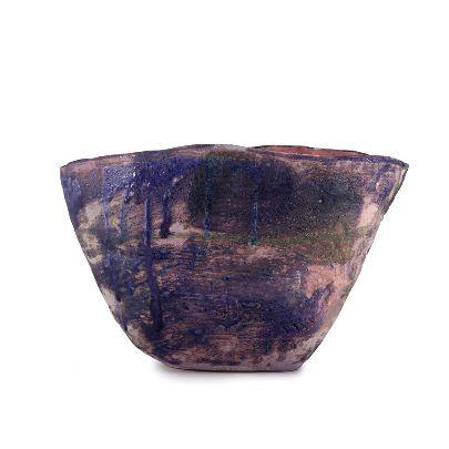 Picture of purple narrow flower pot