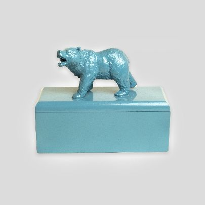 Picture of light blue bear box