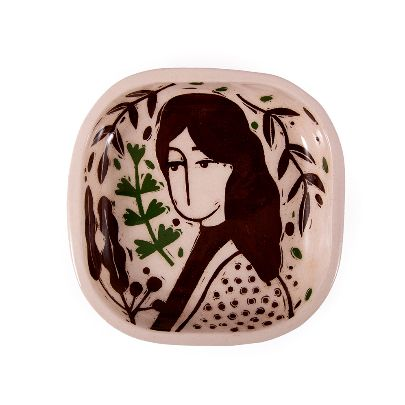 Picture of illustrated long hair square bowl