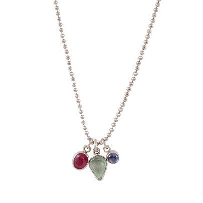 Picture of aquamarine-tourmaline necklace