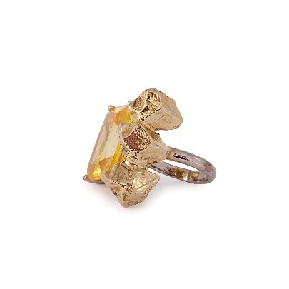 Picture of yellow crystal ring