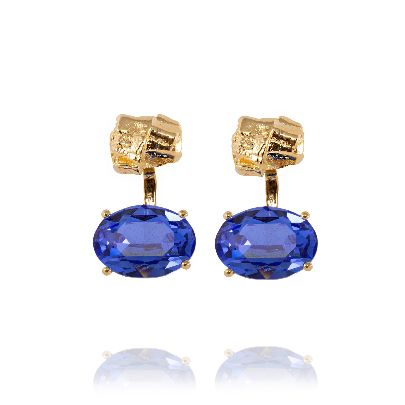 Picture of earings with blue crystals