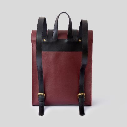 Picture of dark red backpack
