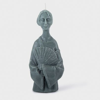 Picture of dark green lady candle