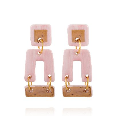 Picture of pink cube earrings