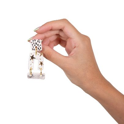 Picture of star cube earrings