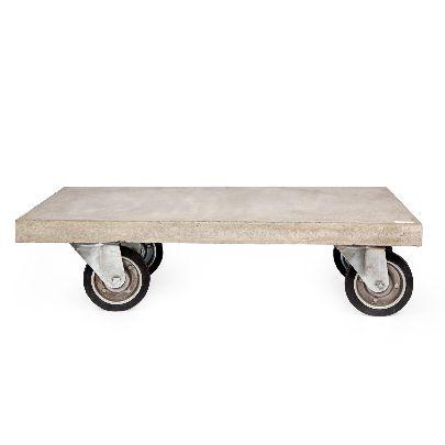 تصویر میز جلو مبلی با صفحه بتنی