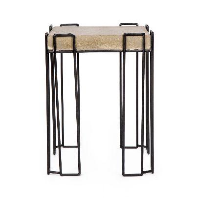 تصویر میز بتنی مربع عسلی