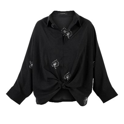 Picture of patterned black blouse