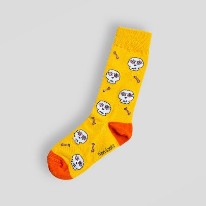 Picture of yellow skeleton socks