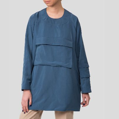 Picture of blue raincoat