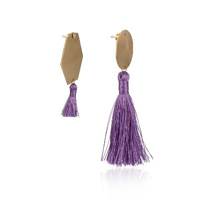 Picture of purple earrings