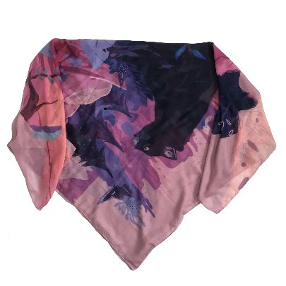 Picture of pink jungle scarf
