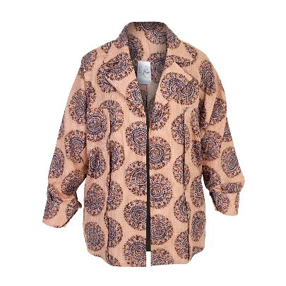 Picture of beige patterned blouse
