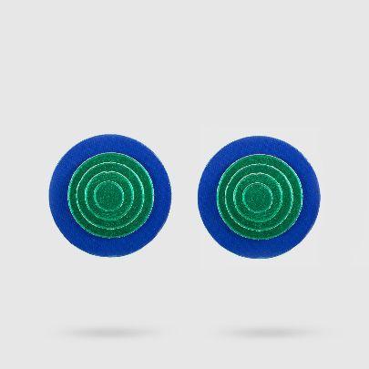 تصویر گوشواره داچک آبی سبز