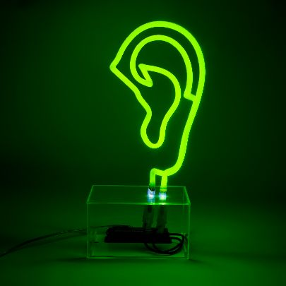 Picture of neon ear