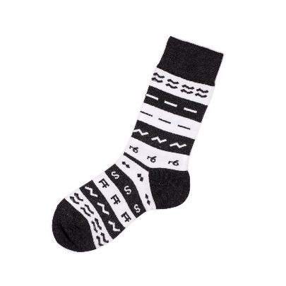 Picture of black and white socks