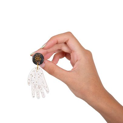 Picture of black hands earrings