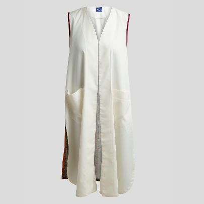 Picture of White vest with cashmere