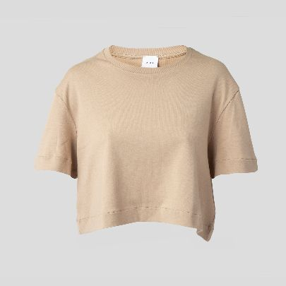 Picture of Beige cropped tee