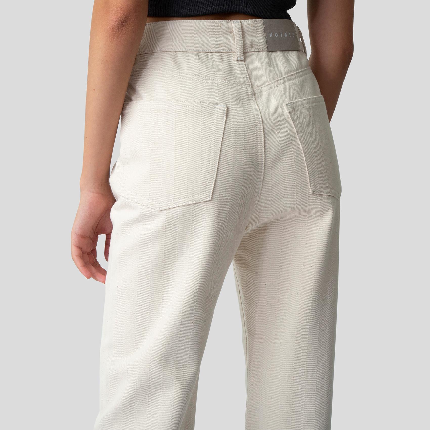 Picture of Ecru denim straight pants